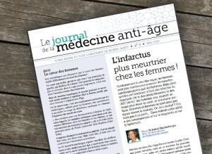 Couverture du numéro d'avril du Journal de la Médecine Anti-âge